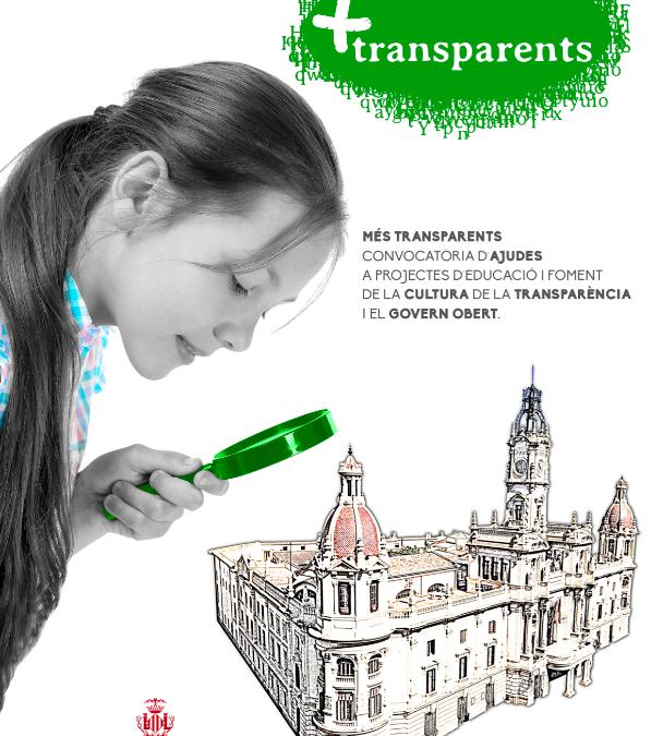 """""""Més Transparents"""", el Ayuntamiento convoca las ayudas a proyectos de fomento de la cultura de la transparencia"""